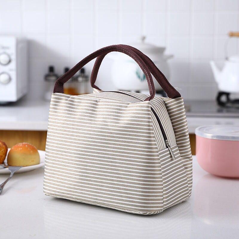 便當袋手提包女保溫包大號帶飯包便攜餐包學生午餐飯盒袋