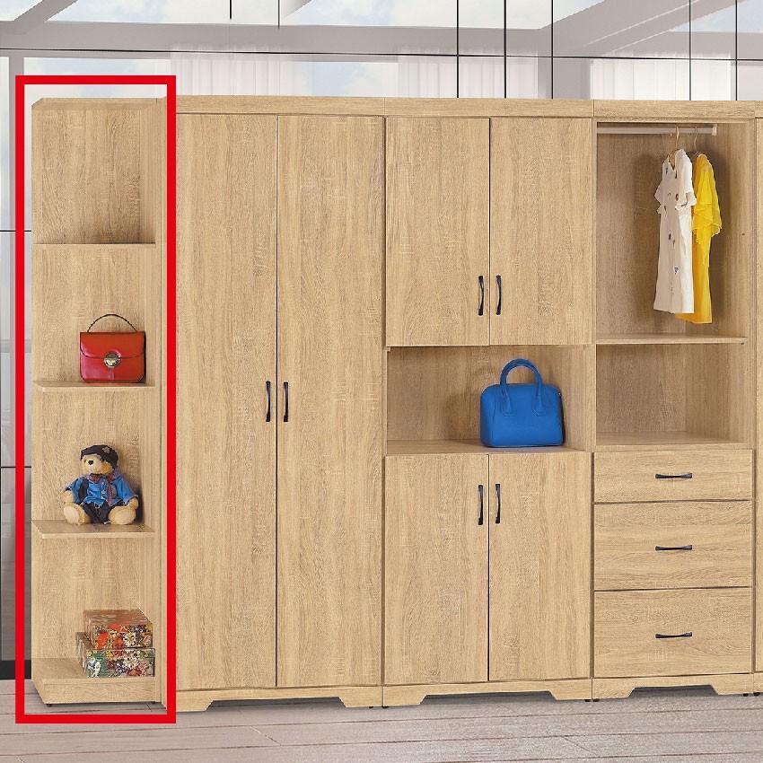 【38cm開放衣櫃-E137-7】木心板 推門滑門開門 衣服收納 免組裝 【金滿屋】