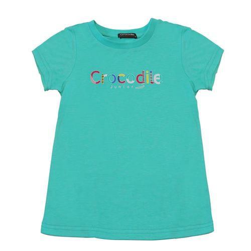 Crocodile Junior『小鱷魚童裝』559480彩色LOGO素色T恤-小童Ggo(G購)