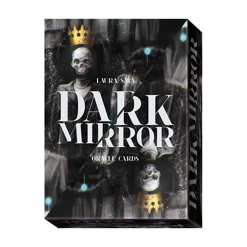 黑鏡示現卡|Dark Mirror Oracle 反映現代生活的不安。帶領人們通過並且接受內在的黑暗【左西購物網】
