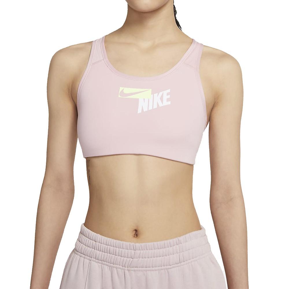 NIKE AS W NK SWOOSH LOGO BRA PAD 女 粉 瑜珈 慢跑 健身 運動內衣 CZ4444630