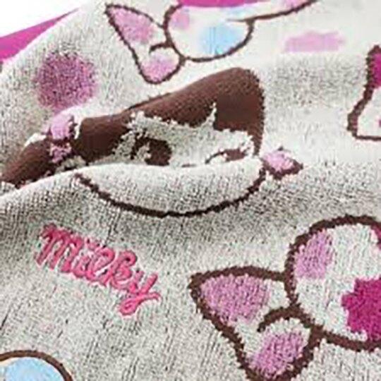 小禮堂 不二家Peko 純棉無捻紗短毛巾 純棉毛巾 方形毛巾 丸真毛巾 30x30cm (粉 糖果)