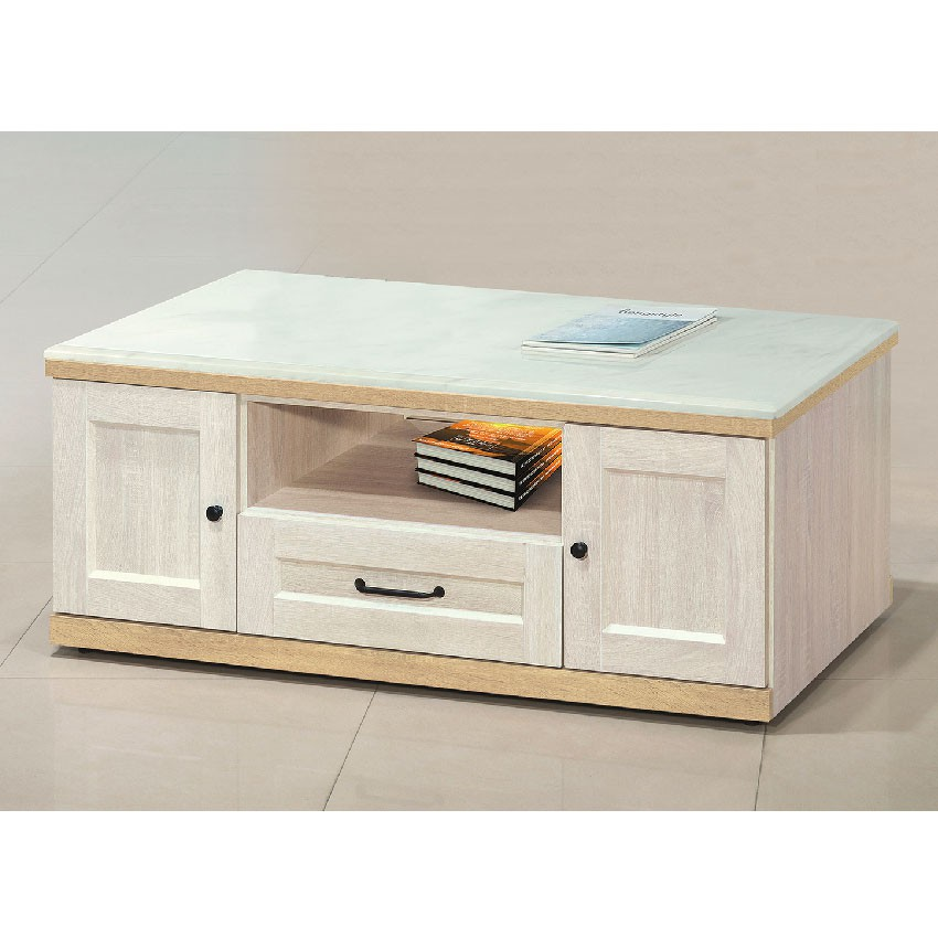 【120cm石面大茶几-E365-4】實木原木玻璃 大理石長方桌 大小邊几 圓桌 【金滿屋】
