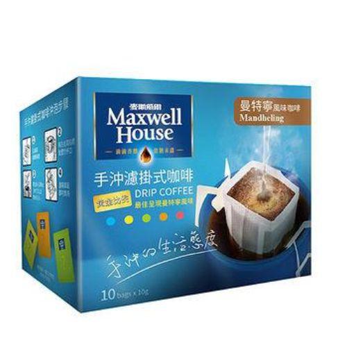 麥斯威爾手沖濾掛式咖啡-曼特寧風 超值二入組【愛買】