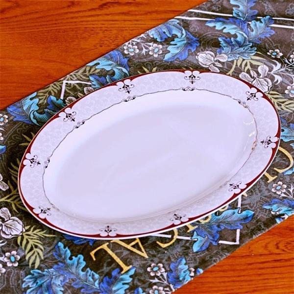 景德鎮家用陶瓷日式深盤魚型餐具套裝菜碟創意新款橢圓大號魚盤子 晴天時尚