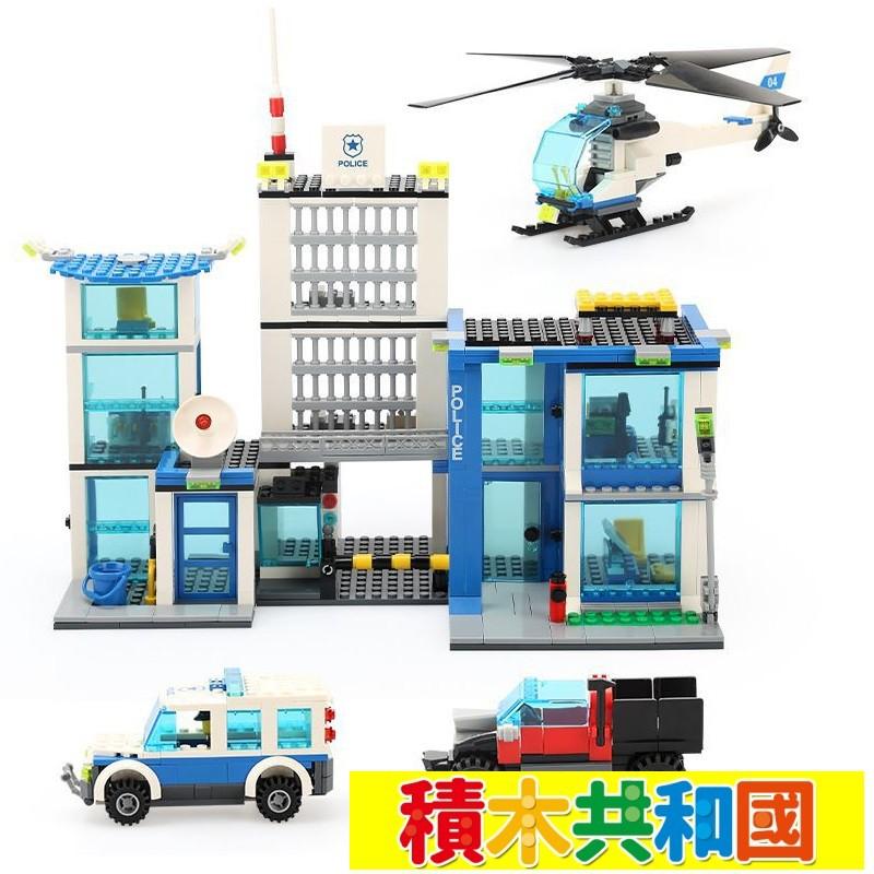 【積木共和國】 萬格 6540 警察署/超級警察系列 益智積木兼容樂高拼裝積木
