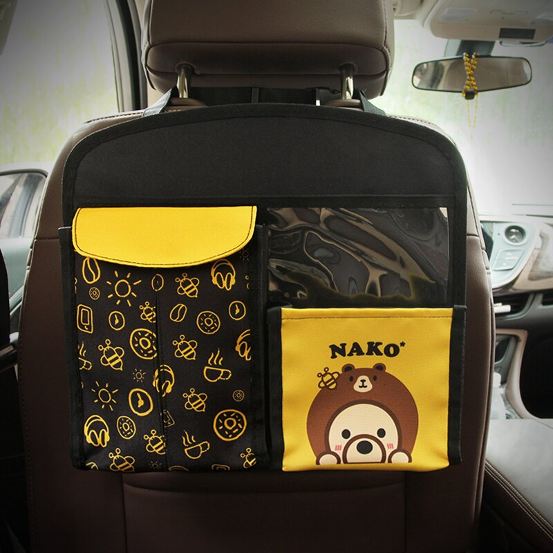 汽車椅背收納袋 汽車椅背袋座椅掛袋車載置物袋創意車用多功能收納袋靠背車內用品b858