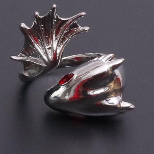 龐克風 個性龍戒指 另類風格 飾品 8522 天使衣裳