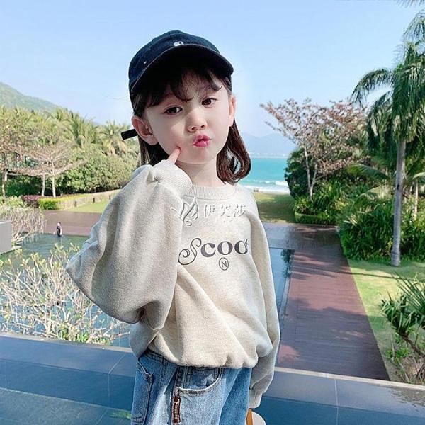 女童春裝衛衣2021新款潮牌韓版兒童裝洋氣寶寶女孩春秋款小童上衣