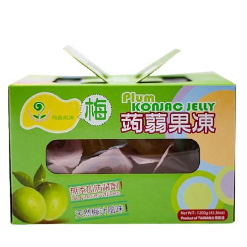 禾一發 梅子味蒟蒻果凍 1200g/盒(另有3盒特惠)
