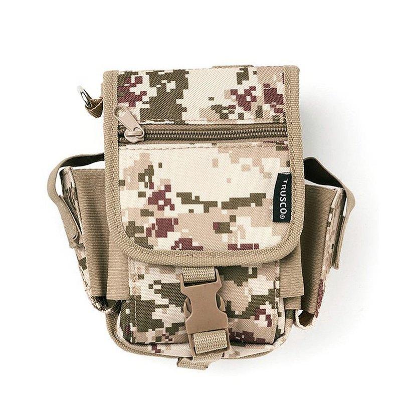 【Trusco】數位迷彩-沙漠色系多用途腰間收納袋(大)