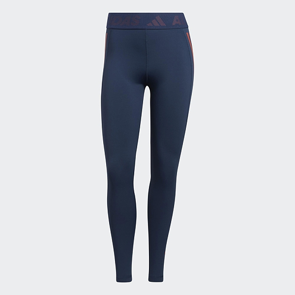 ADIDAS TECHFIT 女裝 長褲 緊身 慢跑 訓練 吸汗快乾 中腰 網材側袋 藍【運動世界】GM2850