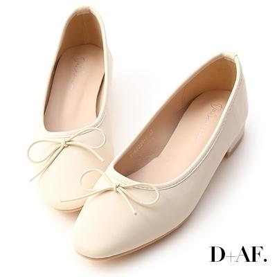 D+AF 春日漫步.小蝴蝶低跟芭蕾娃娃鞋*白