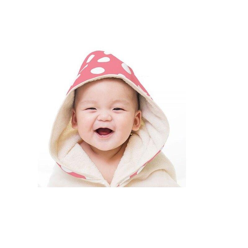 Nizio 小蘑菇天然棉紗浴巾-粉紅大點★衛立兒生活館★