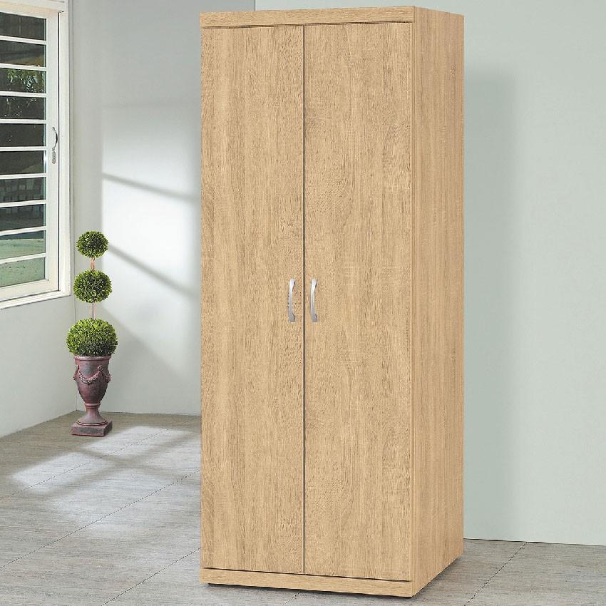 【61cm衣櫃-E201-5】木心板 推門滑門開門 衣服收納 免組裝 【金滿屋】