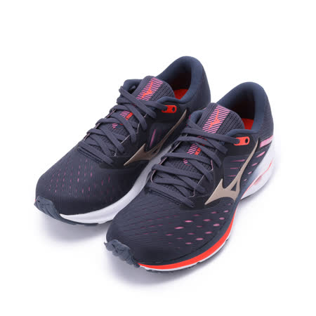 MIZUNO WAVE RIDER 24 慢跑鞋 墨黑/紫 J1GD200343 女鞋