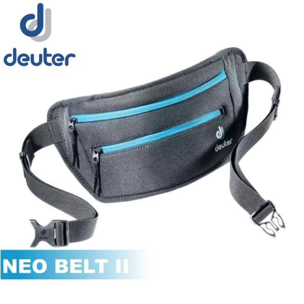 【Deuter 德國 NEO BELT II 腰包《黑/藍》】3910320/隨身腰包/旅遊防盜/貼身包/運動腰包/錢包