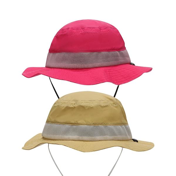 童帽 夏日透氣沙灘帽 漁夫帽素色遮陽帽 防曬海灘帽 繫繩帽 88658