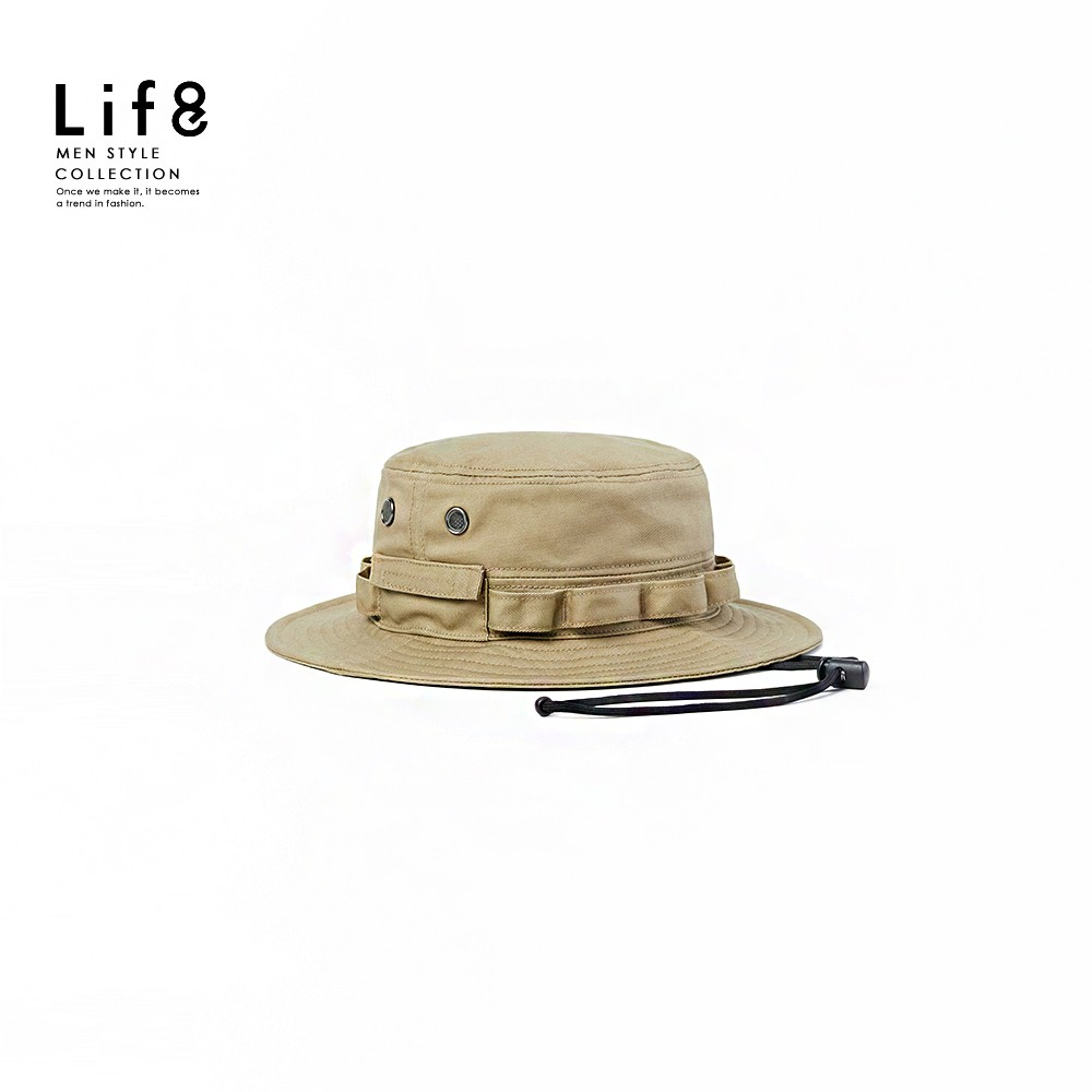 Life8-Casual 森山系 衝鋒登山帽(附掛繩)-05460