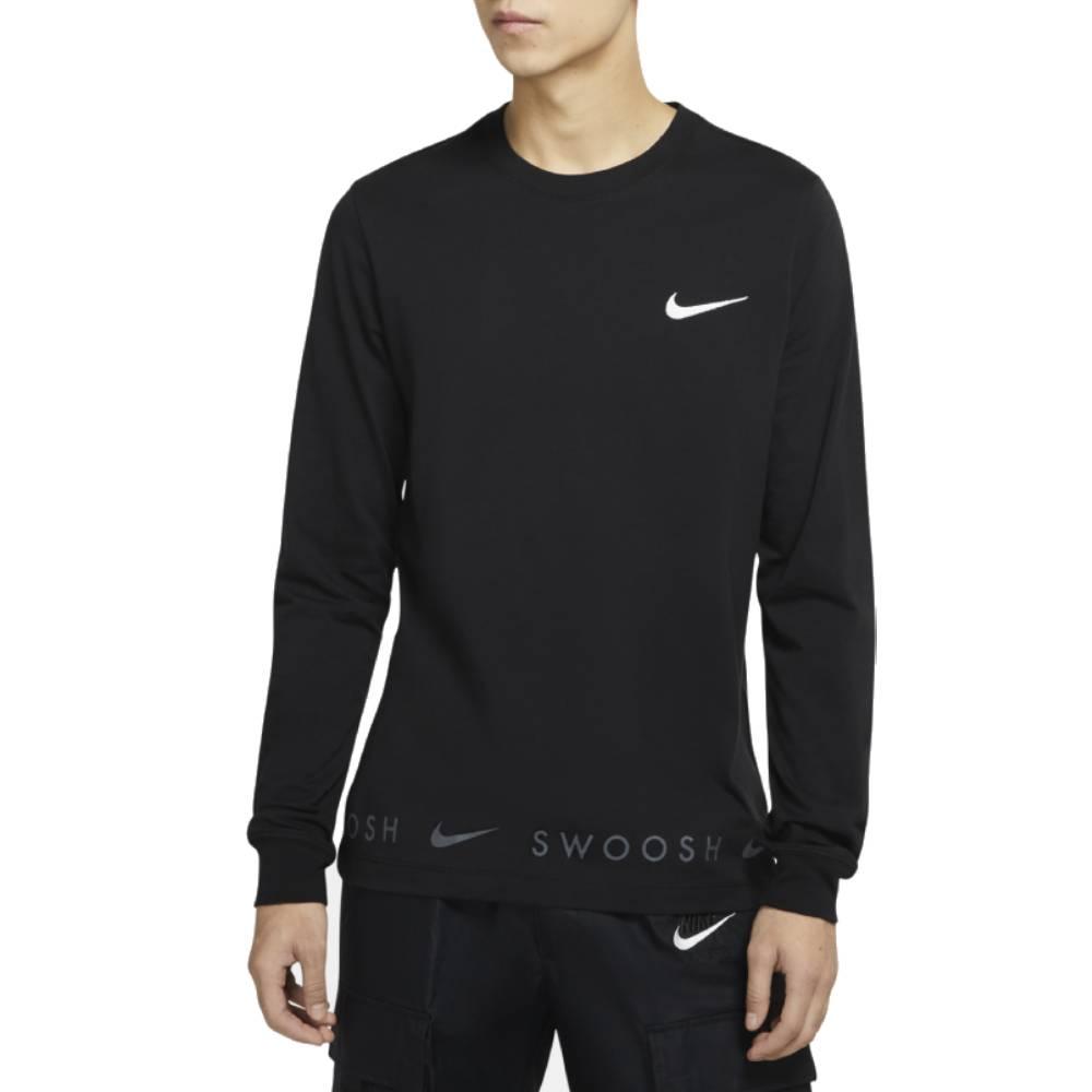 Nike AS M NSW TEE LS SWOOSH 男長袖上衣 DA0336010 黑