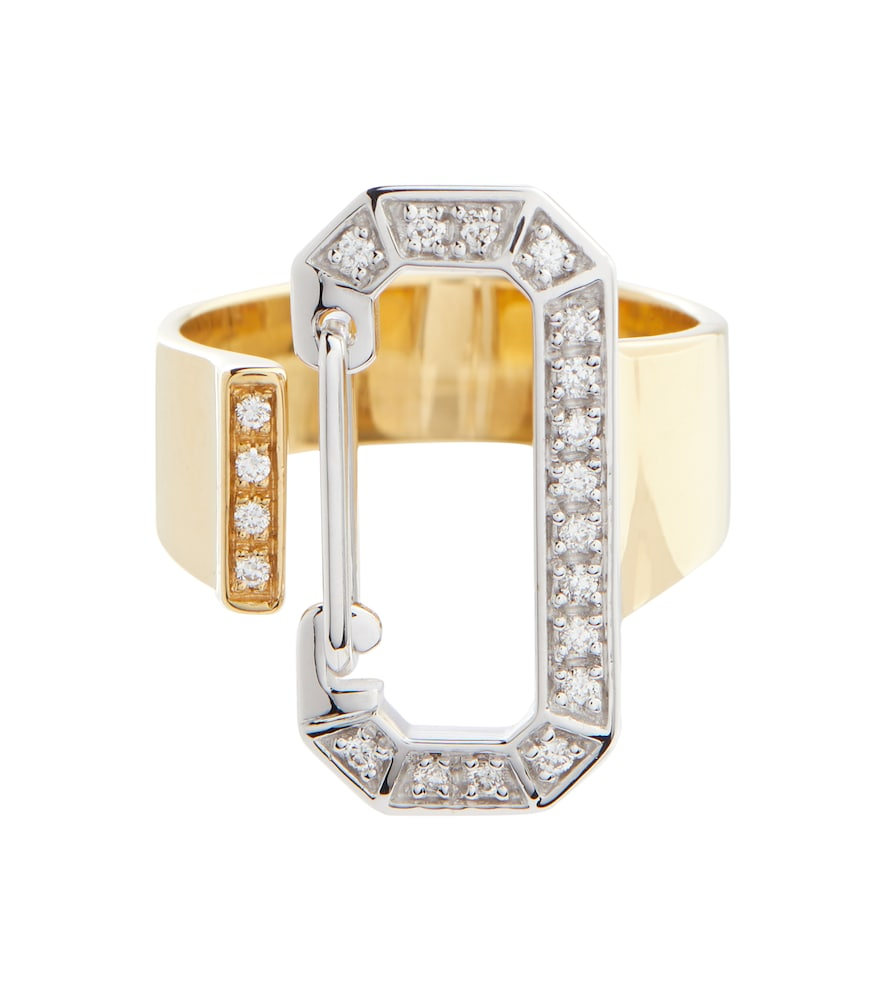 EÉRA 18kt gold ring with diamonds