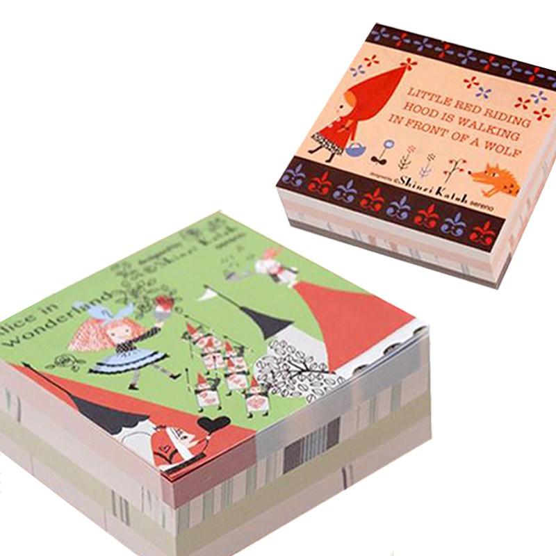 【加藤真治 童話系列】小紅帽 愛麗絲 四層便條紙