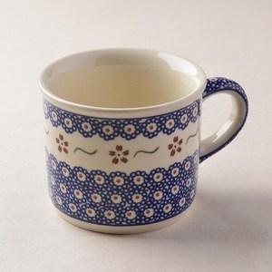 波蘭陶 紅點藍花系列 陶瓷馬克杯 400ml 波蘭手工製