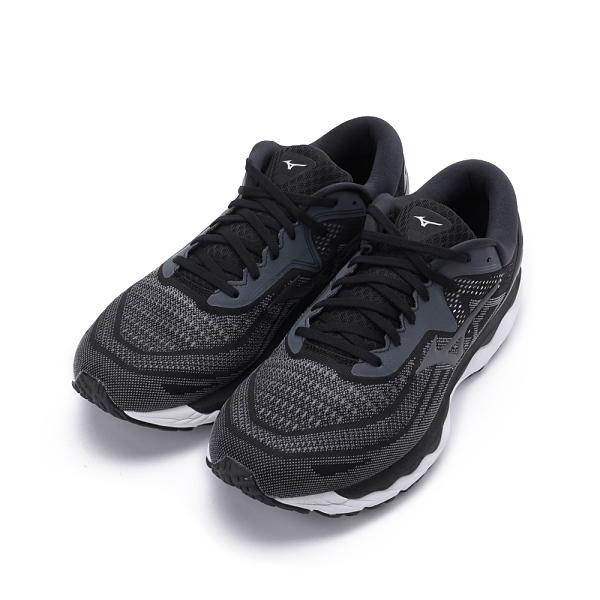 MIZUNO WAVE SKY 4 4E超寬楦慢跑鞋 黑/冷冽銀 J1GC201137 男鞋 運動│休閒
