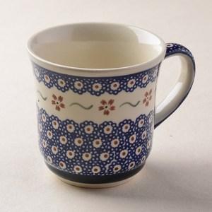 波蘭陶 紅點藍花系列 陶瓷馬克杯 380ml 波蘭手工製