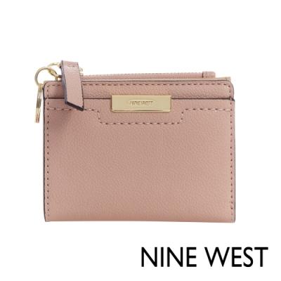NINE WEST KENNEDY素面方型拉鍊短夾-玫瑰粉(106858)