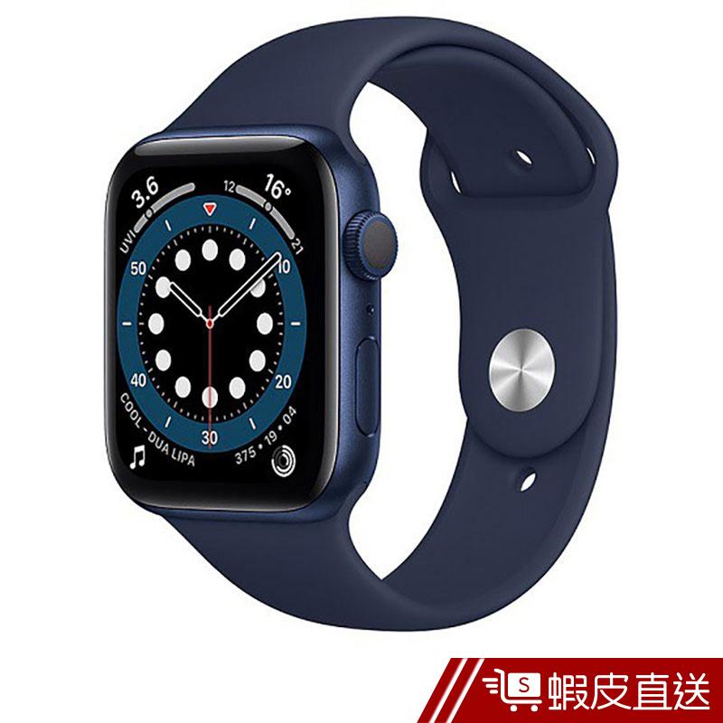 Apple Watch S6 GPS,44mm藍色鋁金屬錶殼海軍深藍色運動型錶帶標準款(M00J3TA/A) 蝦皮直送