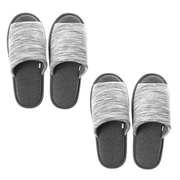 HOLA風格紋理針織拖鞋-灰M x2