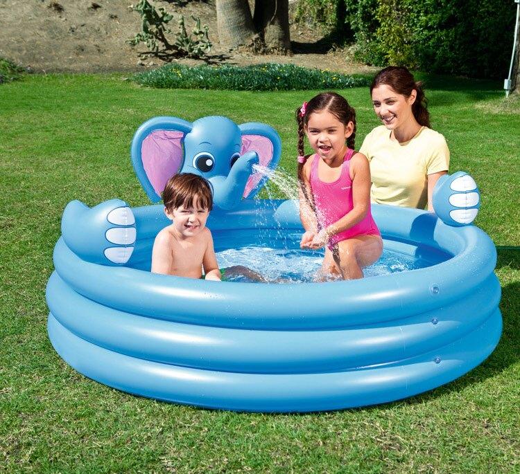 充氣泳池 兒童帶滑梯游泳池充氣兒童家用可噴水寶寶戲水池加厚超大號
