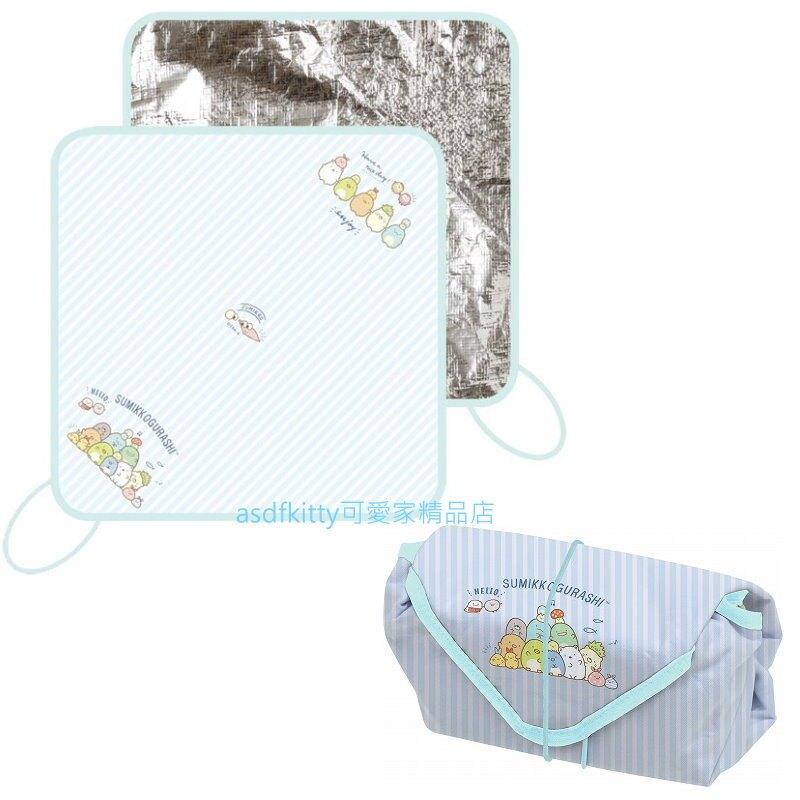 asdfkitty*日本san-x角落生物藍條紋保溫保冷便當包巾-日本正版商品