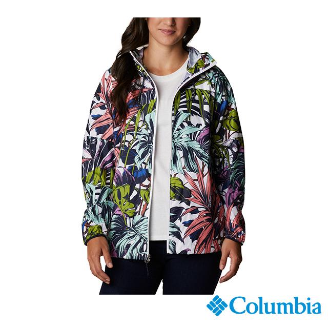 Columbia哥倫比亞 女款-UPF50防潑水風衣-印花 UWR02650FW