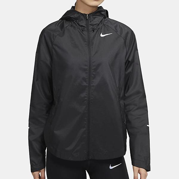 NIKE Run Division 女裝 外套 連帽 休閒 跑步 健身 抗水 反光 黑【運動世界】DA1071-010