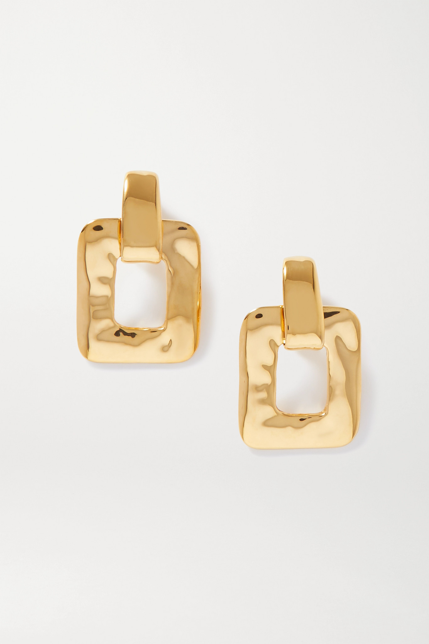 SAINT LAURENT - Oversized Gold-tone Clip Earrings - one size