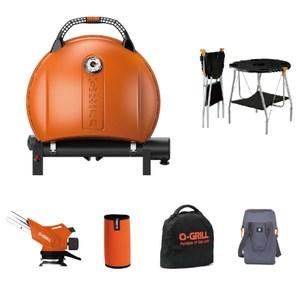 O-Grill 900MT美式時尚可攜式瓦斯烤肉爐-精選包套熱情橘