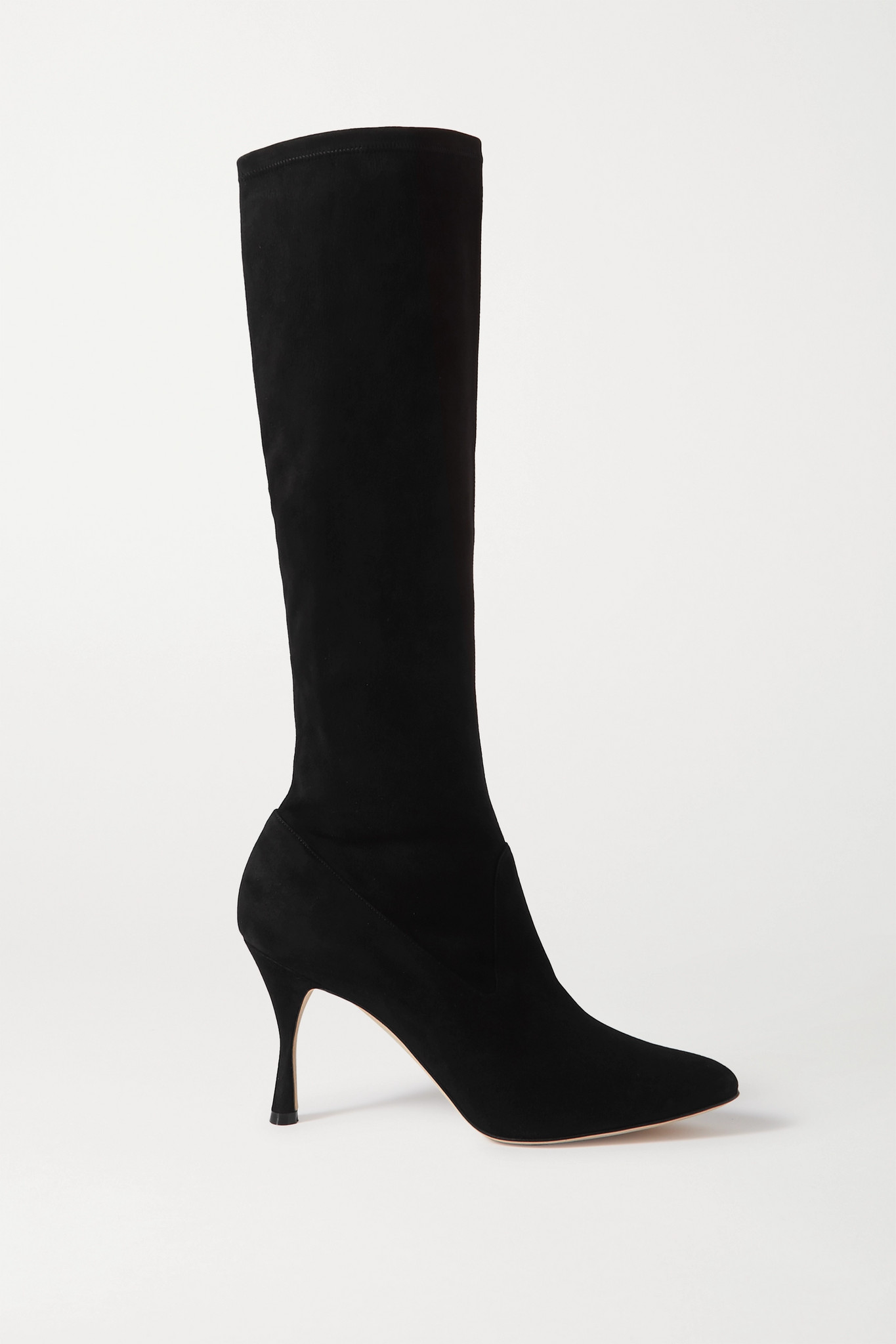 MANOLO BLAHNIK - Pamfilo Stretch-suede Knee Boots - Black - IT39