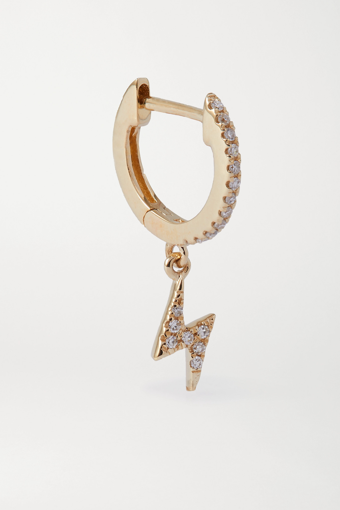 STONE AND STRAND - Gold Diamond Single Hoop Earring - one size