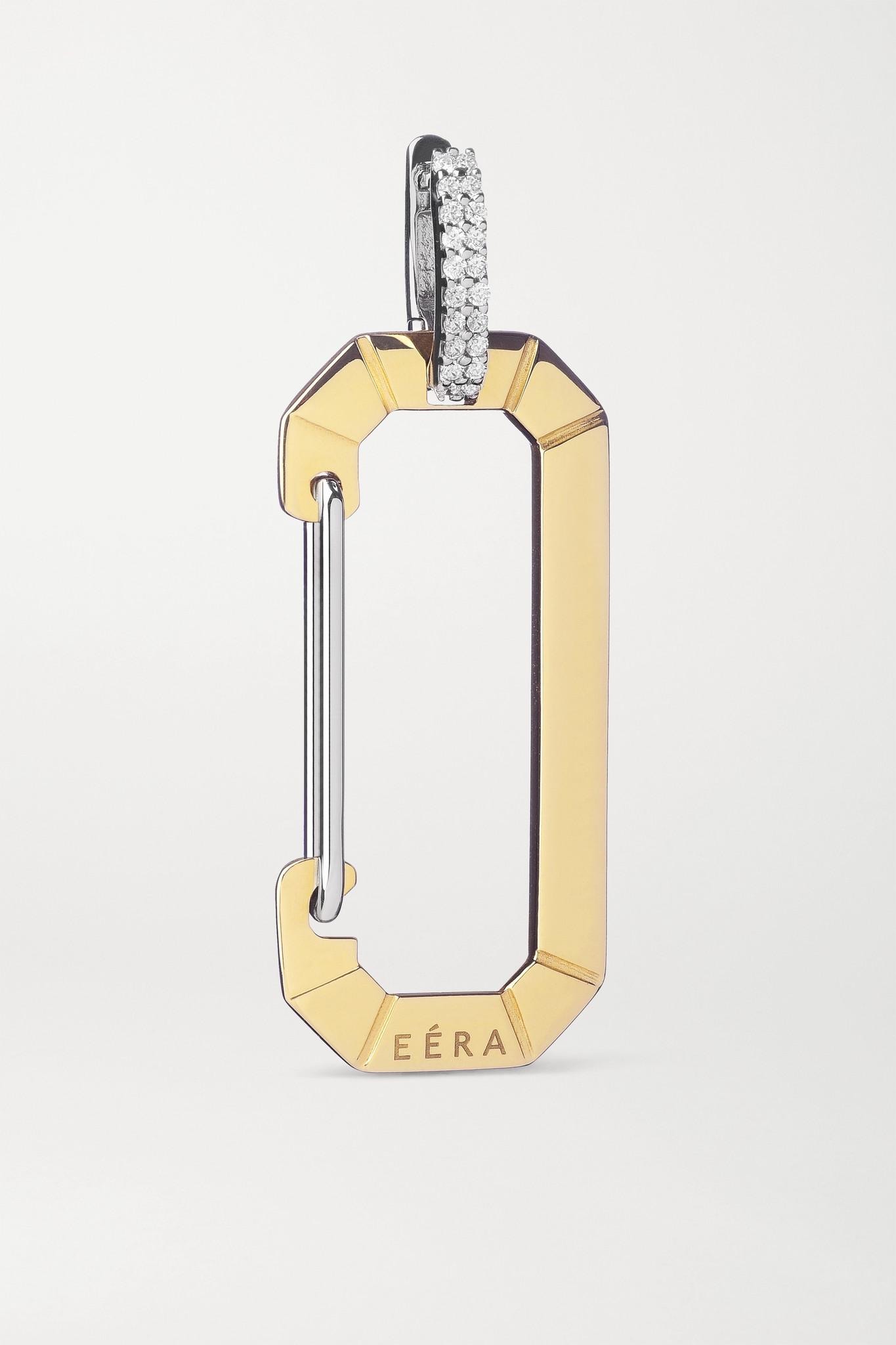 EÉRA - Chiara 18-karat Yellow And White Gold Diamond Earring - one size