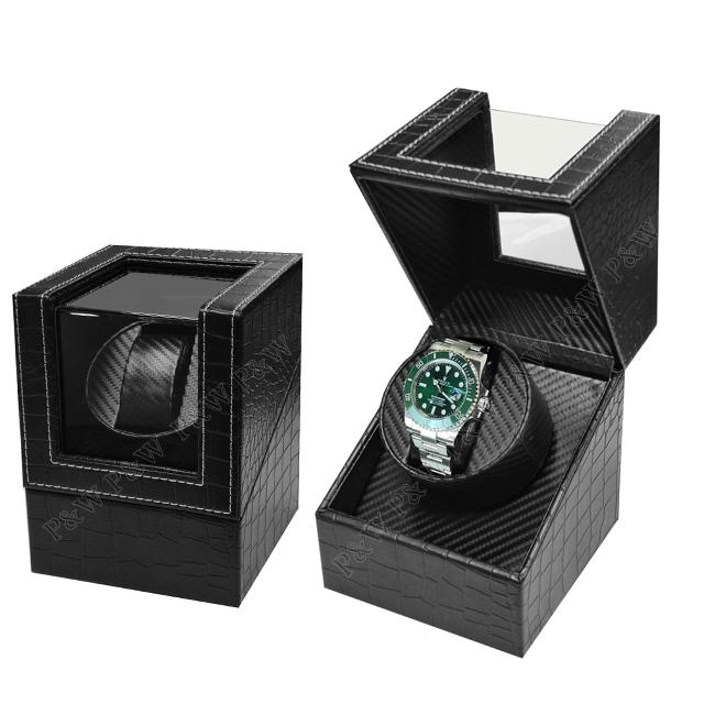 【手錶自動上鍊盒】大錶專用 1只裝 【鱷魚皮紋】 (動力儲存盒、搖錶器、旋轉盒)