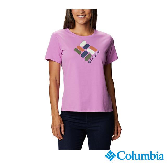 Columbia哥倫比亞 女款-快排短袖上衣-紫色 UAR31230PL