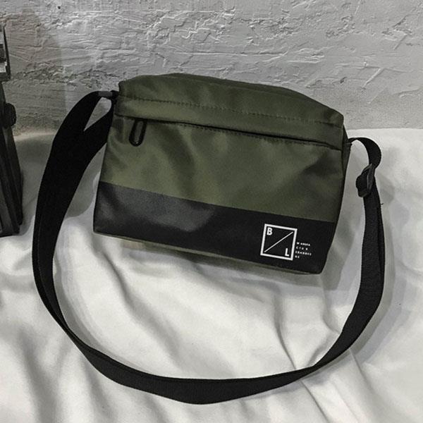 【帆布包】純棉 牛津街頭小方包 側背包 肩背包 斜背包/肩背+側背+斜跨/拉鍊/綠