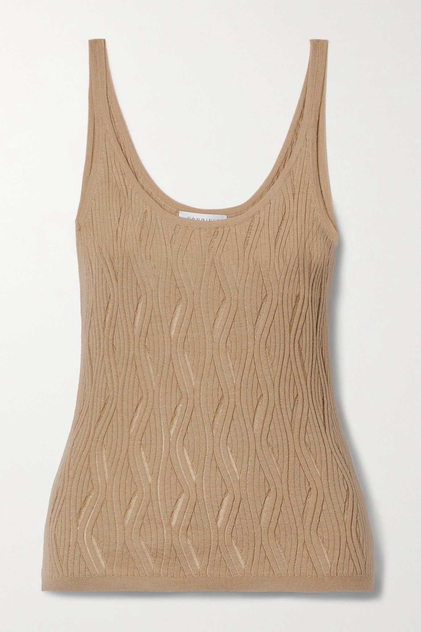 GABRIELA HEARST - Hurwitz Ribbed Cashmere And Silk-blend Tank - Brown - small