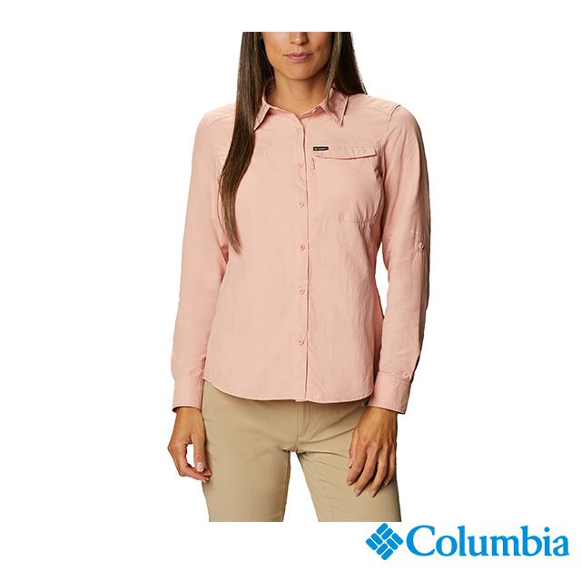 Columbia哥倫比亞 女款-UPF50快排長袖襯衫-粉紅 UAK26570PK
