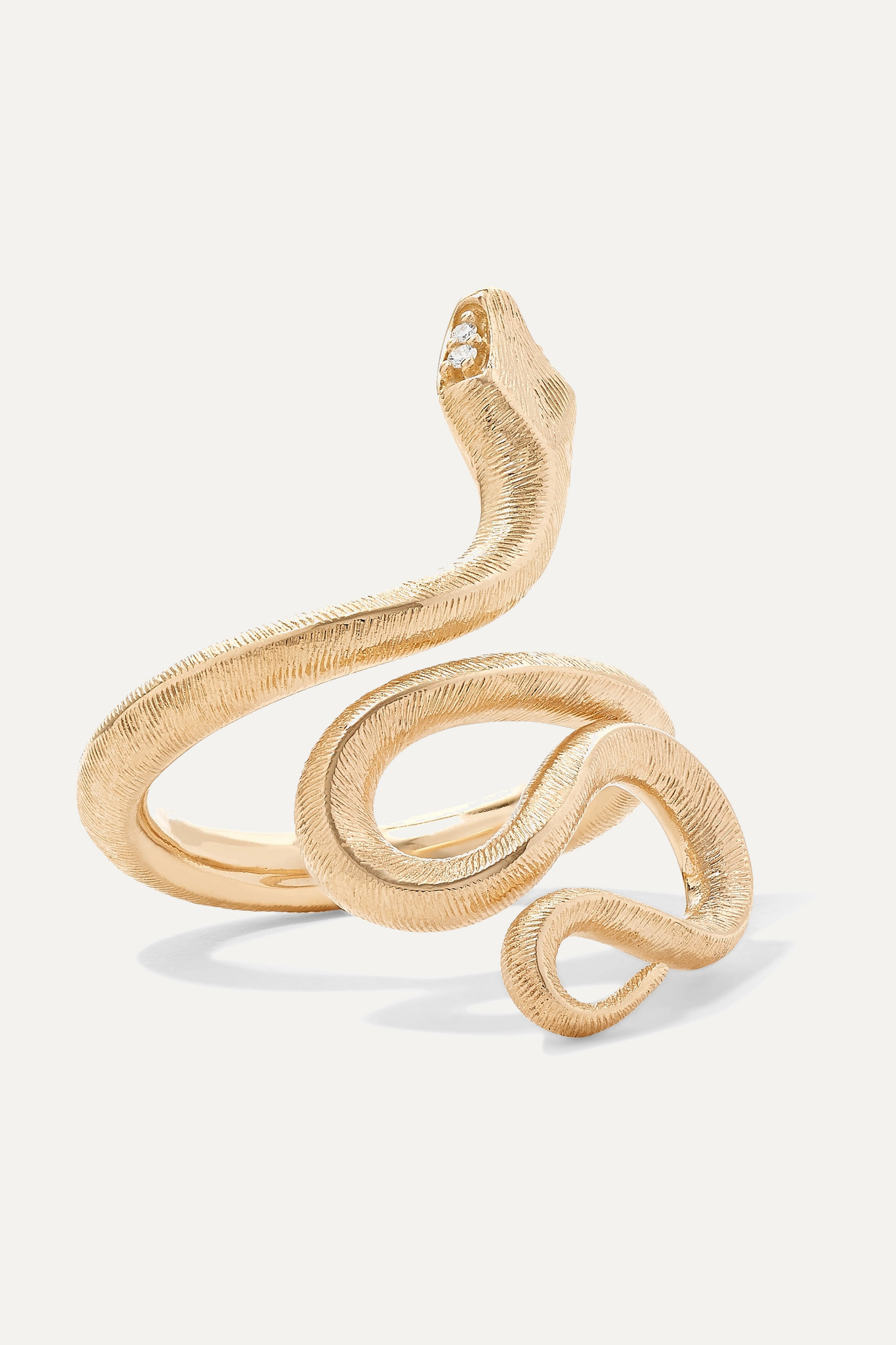 OLE LYNGGAARD COPENHAGEN - Snake Medium 18-karat Gold Diamond Ring - 5