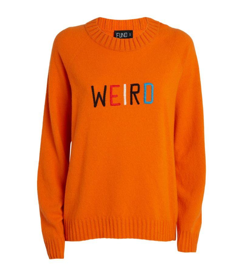 Fund Wool Weird Slogan Sweater