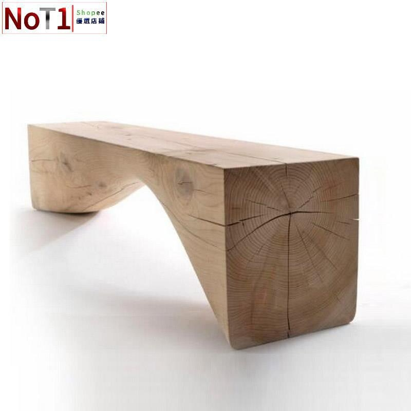 長凳-北歐包郵創意簡約原木長凳設計實木凳換鞋凳長條矮凳民宿家具長凳 愛尚優品 全館85折