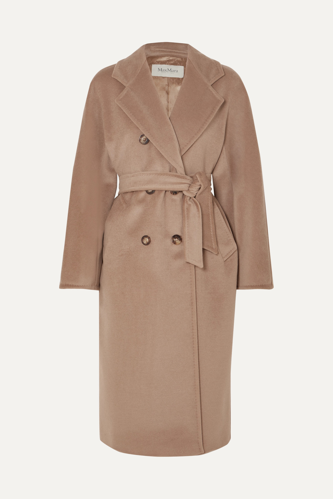 MAX MARA - Madame Belted Double-breasted Wool And Cashmere-blend Coat - Brown - UK8